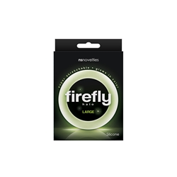 Firefly Halo Large Clear Glow in the Dark Cock Ring, Stretchable Cock Ring