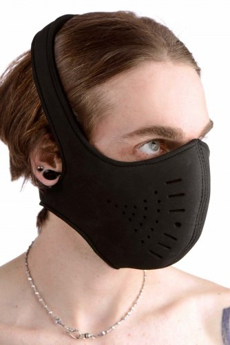 Neoprene Snap On Face Mask Hoods and Blindfolds, Hoods and Muzzles