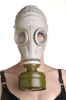 Rubber Gas Mask Hood Hoods and Blindfolds, Hoods and Muzzles