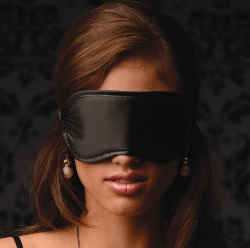 Le Boheme Satin Blindfold - Black Hoods and Blindfolds