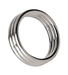 Echo 1.75 Inch Stainless Steel Triple Cock Ring Cock Rings, Metal Cock Rings
