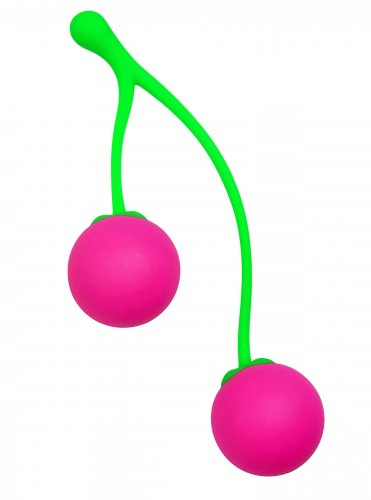 Charming Cherries Silicone Kegel Exercisers Benwa Balls, Silicone Toys, Silicone Vibrators, Kegel