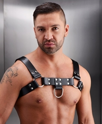 English Bull Dog Harness Bondage Gear, Clothing and Lingerie, Leather Bondage Goods, Mens Clothing