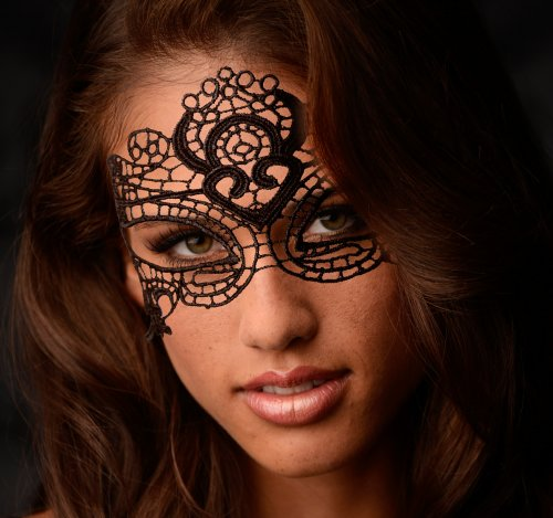 The Enchanted Black Lace Mask Masks