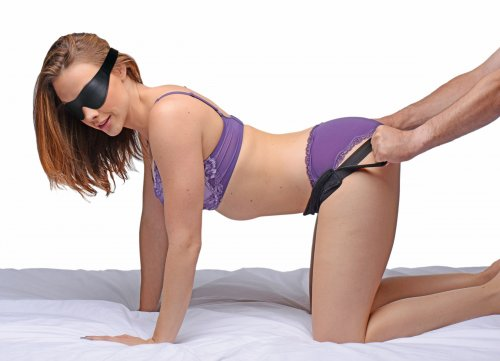 Doggie Style Strap Kit with Blindfold Hoods and Blindfolds, Bondage Kits, Sex Position Aids