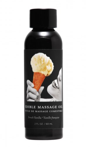 2 Ounce Edible Massage Oil- French Vanilla Personal Lubricants, Flavored Lube, Oil Based Lubes, Personal Massage