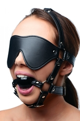 Blindfold Harness and Ball Gag Beginner Bondage, Bondage Gear, Hoods and Blindfolds, Mouth Gags