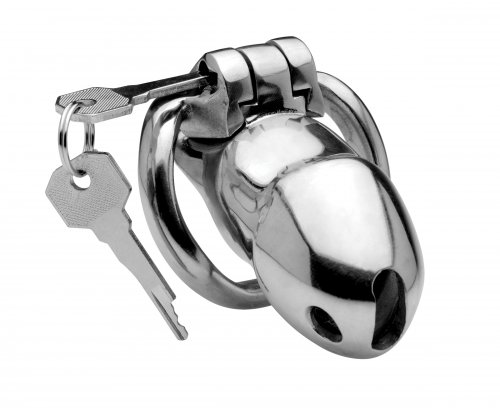 Rikers 24-7 Stainless Steel Locking Chastity Cage Bondage Gear, Chastity, Cock and Ball Torment, Chastity for Him, Metal Chastity Devices