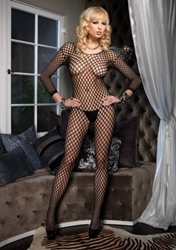 Lycra Ringo Hole Long Sleeves Bodystocking Clothing and Lingerie, Womens Full Body