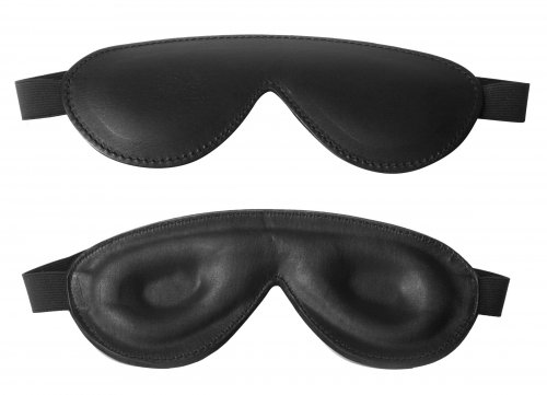 Strict Leather Padded Blindfold Hoods and Blindfolds, Leather Bondage Goods